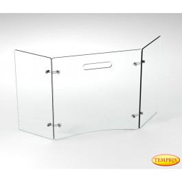 Funkenschutz Brilliant Klarglas 600mm x 954mm