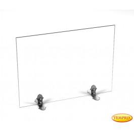 Funkenschutz Beta Klarglas 540mm x 600mm mit Stahlfüsse
