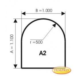 Kaminbodenplatte aus Aluminium, Form: A2
