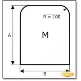 Funkenschutzplatte Wunschformat S1 nach Maß, Glasbodenplatte, Kamin Bodenplatte aus Grauglas