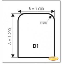 <H3>Beschreibung:</H3><P>Form: C4<BR>Maße der Ofenplatte: 1.100 x 1.100 x 6 mm<BR>Lieferzeit: <STRONG>sofort verfügbar</STRONG>