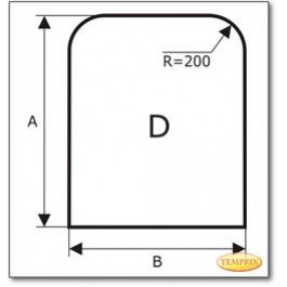 Funkenschutzplatte Wunschformat S1 nach Maß, Glasbodenplatte, Kamin Bodenplatte aus Klarglas