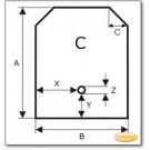 Kaminbodenplatte aus Edelstahl, Wunschformat S3