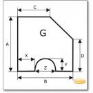 Kaminbodenplatte aus Edelstahl, Wunschformat S5