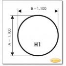 Kaminbodenplatte aus Grauglas, Form: H1