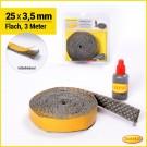 Kamindichtung flach 25 x 3,5mm Gesamtlänge 3 Meter