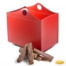 Holzkorb aus Leder Modell Viscont