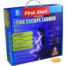 First Alert Rettungsleiter 4,3 m, für ca. 2 Stockwerke, inkl. Abstandshalter
