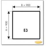 Kaminbodenplatte aus Braunglas, Form: E3