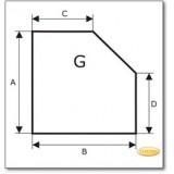 Funkenschutzplatte Wunschformat S1 nach Maß, Glasbodenplatte, Kamin Bodenplatte aus Braunglas