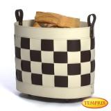Holzkorb aus Leder Modell Paradiso
