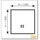 Kaminbodenplatte aus Grauglas, Form: E2