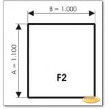 Kaminbodenplatte aus Grauglas, Form: F2