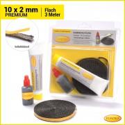 Kamindichtung flach 10x2mmPremium Gesamtlänge3Meter